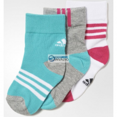 Adidas zokni adidas Little Kids Ankle Socks Kids 3pak AO0238