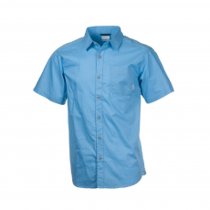 Columbia Thompson Hill Solid Short Sleeve Shirt Ing D (1577601-o_898-Blue Sky)
