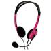 basicXL BXL-HEADSET1PI pink fejhallgató mikrofonnal