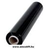 Sztreccsfólia, kézi, fekete, 500mm, 170m, 23my, 2,5kg/tekercs, 6tekercs/doboz (1494)