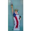 Szabadság szobor-lámpával-100cm/sz
