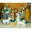 Betlehem-90cm/10 figurával/pásztorral-tevével-2 kisbirkával