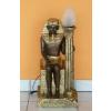 Lámpa-Fáraó-trónon ülő/bronz-arany
