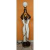 Lámpa-Kleopátra-130 cm/barna-fehér
