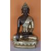 Buddha-nepáli-lótuszülésben tállal/bronz-arany
