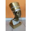 Fáraónő-Nofretete mellszobra-50 cm/arany-ezüst