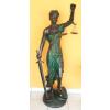 Justicia-Az igazság istennője-150 cm/barna-zöld