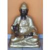 Buddha-thai-lótuszülésben/73 cm/fekete-arany
