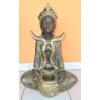 Buddha-tibeti-Csenrézi-vázával/bronz-antik arany