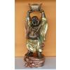 Buddha-kínai-feje fölött hajó/62cm/bronz-arany-világos réz