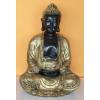 Buddha-thai-meditáló/35 cm/fekete-antik arany