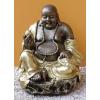 Buddha-kínai-golyóval-ülő/bronz-arany