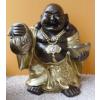 Buddha-kínai-álló/75 cm/bronz-arany