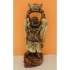 Buddha-kínai-feje fölött hajó/62cm/bronz-arany-réz