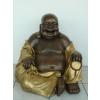 Buddha-kínai-imafüzérrel/60 cm/bronz-arany