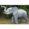 Elefánt-115 cm-agyarral/felemelt ormánnyal