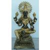 Hindu istennő-Laksmi/ülő/fekete-arany