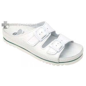 Scholl Airbag bőrpapucs fehér megterhelt lábra 36-46