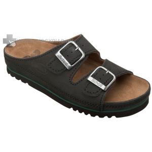 Scholl Airbag bőrpapucs fekete megterhelt lábra 35-44,46