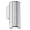 EGLO kültéri falra szerelhető lámpa, nemesacél, GU10 foglalat, 3W, 200 lm, 3000K melegfehér – Riga – 94106