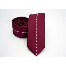 Rossini Prémium slim nyakkendõ - Meggypiros mintás