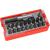 EXTOL PREMIUM EXTOL behajtó klt. 20 db C.V., lapos:3-6, PH1-3, PZ1-3, HEX 4-6mm, T10-40, övre akasztható műanyag tartóban