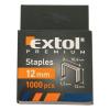 EXTOL PREMIUM EXTOL tűzőgépkapocs profi (10,6×0,52×1,2mm) ; 12mm, 1000db