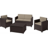 CURVER Monaco set with storage table barna-meleg taupe