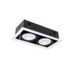 10W 2xE27 Quad210 sötétszürke LEDes lámpatest