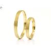 Vésett sávos arany karikagyűrű