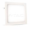 12W LED Felületre szerelhető Panel - négyzet alakú 4500K 4914