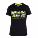 Gorilla Wear Sacramento V-Neck T-Shirt - Black/Neon Lime