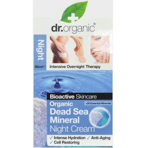 Dr. Organic Éjszakai Tápláló, Hidratáló Arcápoló Krém Természetes Holt-tengeri Ásványokkal 50 ml