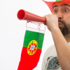Portugál Zászló Drukkolókürt