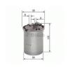 Bosch 0450906500 Gázolajszűrő, üzemanyagszűrő Seat Cordoba, Ibiza, Toledo, Skoda Fabia, Roomster, Volkswagen Polo