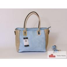 154 Max Fly kék beige női táska