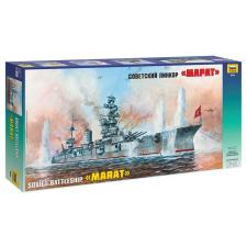 "Zvezda Soviet battleship ""Marat"" hajó makett Zvezda 9052 makett figura"