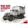 MiniArt GAZ-AAA with Shelter katonai jármű makett Miniart 35183