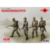 ICM German Infantry (1914) első világháborús német katonák figura makett ICM 35679