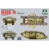 Takom WWI Heavy Battle Tank MARK IV Male tank harcjármű makett Takom 2008