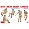 MiniArt British Jeep Crew figura makett MiniArt 35051