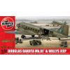 AIRFIX Douglas Dakota MkIII with Willys Jeep makett Airfix A09008