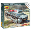 Zvezda German Light Tank Pz.Kp.fw II tank makett Zvezda 6102
