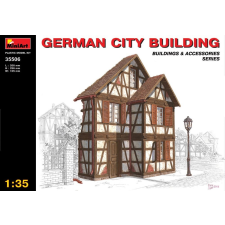 MiniArt GERMAN CITY BUILDING épület dioráma makett Miniart 35506 makett figura