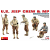 MiniArt U.S. JEEP CREW & MP figura makett Miniart 35047