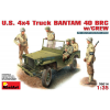 MiniArt U.S. TRUCK BANTAM 40 BRC w/CREW katonai jármű makett MiniArt 35014