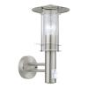 EGLO Lisio - 30185 - kültéri falra szerelhető mozgásérzékelő lámpa, rozsdamentes acél (inox), E27 foglalat, IP44