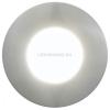 EGLO Margo - 94092 - kültéri falba süllyesztett LED lámpa, kör, rozsdamentes acél (inox), GU10 foglalat, 5W, 350 lm, 3000K melegfehér