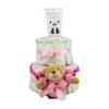 Pelenkatorta Webshop Babaváró ajándék ötlet: Pelenkatorta kislánynak BabyZoo babapopsikrémmel