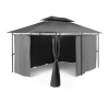 Blumfeldt GRANDEZZA, sötétszürke, kerti pavilon, party sátor, 3x4 m, acél, poliészter party kellék